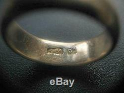 1880's Antique Imperial Russian Rose Gold 56 14K Jewelry Wedding Ring 6.33gr S 7