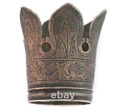 1896 Imperial Russian Antique Sterling Silver 84 Crown Part from a Candlestick