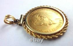 1904 Gold 5 Rouble Pendant Ruble Bezel Original Russian Imperial Antique Russia