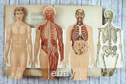 1904 Imperial Russian FOLDABLE HUMAN BODY Collapsible Model Antique BOOK