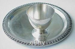 19c RUSSIAN IMPERIAL ROYAL EGG HOLDER 84 SILVER BOWL CHALICE COIN CUP KOVCH PIN