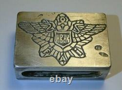 84 Silver Imperial All- Russian Amateur Flying Club Match Box