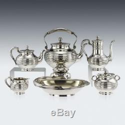 ANTIQUE 19thC IMPERIAL RUSSIAN SOLID SILVER TEA SERVICE, SAZIKOV c. 1866