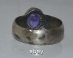 ANTIQUE IMPERIAL RUSSIAN 19th! SILVER 84 Ring stone Victorian rare size 10