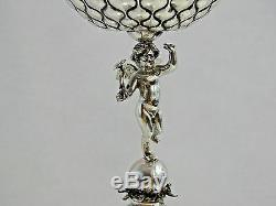 ANTIQUE TALLINN ESTONIA SILVER FIGURAL ANGEL CUP GOBLET BALTIC Russian Imperial