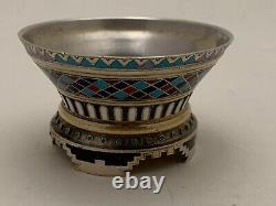 A Russian Imperial Silver-gilt And Champlevé Enamel Small Bowl By Khlebnikov