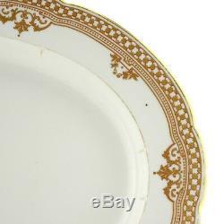 An Antique Russian Imperial Porcelain Factory Gilded Platter Tsar Alexander III