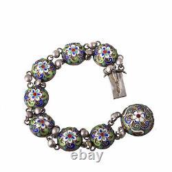An Imperial Russian silver enamel bracelet