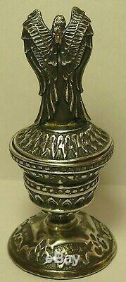 Angel Box Imperial Russian 84 Silver Moscow 1912 Garnet