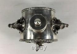 Antique 1878 Solid Silver Russian Imperial Cyprian Labecki Inkwell 192g