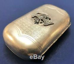 Antique 19C Imperial Russian 84 Silver Cigarette case (C. Wickberg)