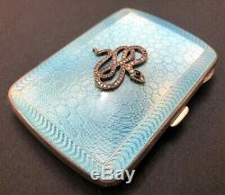 Antique 19C Imperial Russian Faberge Guilloche Enamel Cigarette Case