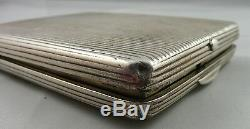 Antique 19 Th Century Imperial Russian Solid Silver Cigarette Case, Moscow
