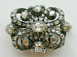 Antique 19c. Diamond Brooch 8-9k. Gold. Russian Royal Imperial Art. Handmade Lad