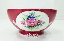 Antique 19th Century Imperial Russian Gardner Porcelain Bowl