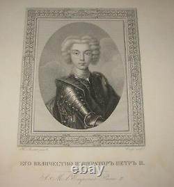 Antique 24 PORTRAITS of RUSSIAN IMPERIAL FAMILY Engravings Portfolio CZAR USSR
