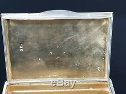 Antique Imperial Eagle Russian 84 Silver 88 Cigarette Case Diamond FABERGE Era