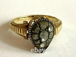 Antique Imperial Russian Faberge 14k 56 Solid Gold Diamond Ring Author's