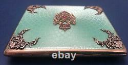Antique Imperial Russian Faberge 88 Gilded Guilloche Silver Cigarette Case