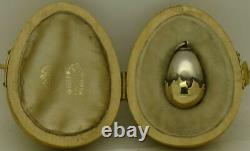 Antique Imperial Russian Faberge gold&silver Easter Egg pendant c1880s. E. Kollin
