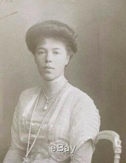 Antique Imperial Russian Grand Duchess Olga Romanov Signed Photo 1912