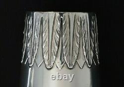 Antique Imperial Russian MARCHAK Chased Silver Beaker Mug Cup Shot Charka Kovsh