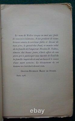 Antique Imperial Russian Memoir Alexis Volkov Valet Tsarina Alexandra Romanov