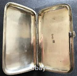 Antique Imperial Russian Niello 84 Silver Cigarette Case (Koptubenko)