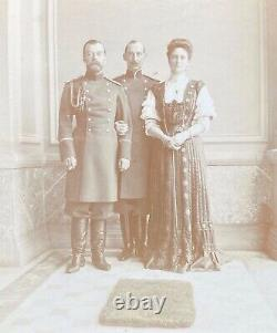 Antique Imperial Russian Photo Tsar Nicholas II Romanov Tsarina Prince of Greece