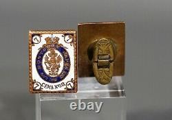 Antique Imperial Russian Postman Award Brass Enamel Cufflinks 7 Kopeck Stamp