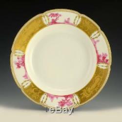 Antique Imperial Russian Purple Service Soup Plate IPF Tsar Nicholas II
