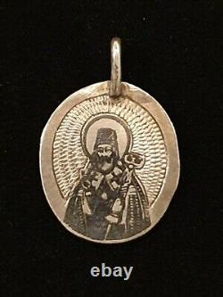 Antique Imperial Russian SOKOLOV 84 Silver NIELLO Russia Religious Orthodox Icon