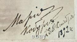 Antique Imperial Russian Signed Photo Grand Duchess Maria Romanov Coburg 1892