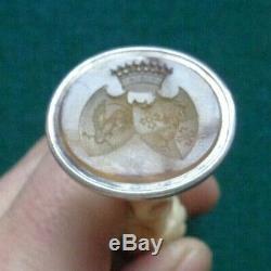 Antique Imperial Russian Silver Desk Seal Princess Saltykov & Duke of Modena