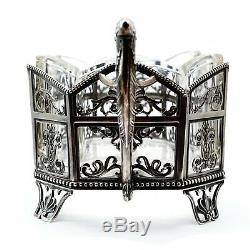 Antique Imperial Russian Silver Gilt Presentation Centerpiece Basket FABERGE ERA