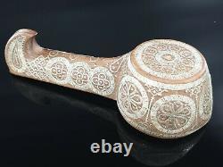 Antique Imperial Russian Silver Inlay Kovsh Vessel Bowl Ladle Spoon TALASHKINO