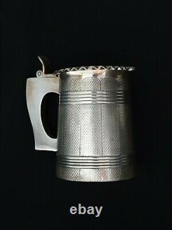 Antique Imperial Russian Silver Tankard Mug Beaker KOVSH Tsarist Russia Empire
