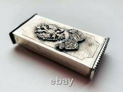 Antique Imperial Russian Sterling Silver 84 Toothpick ase Signed Romanovs 70 gr