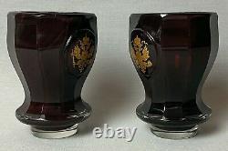 Antique Imperial Russian Winter Palace Wine Glasses Tsar Nicholas Romanov Eagle