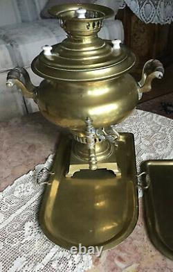 Antique Late19th Century Imperial Russian Brass Samovar 18 Hight by Batashev