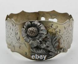 Antique Moscow Russian Imperial. 875 Silver Bangle Bracelet 1854 Assay Mark