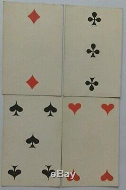 Antique Playing Cards Russian Imperial Square No Indice Hand Colour Gilded 1860