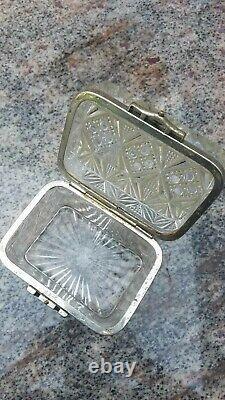Antique Pressed White Glass Tea Caddy Box Imperial Russian Russia