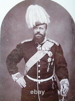Antique Royal Danish Cabinet Photo Tsar Alexander III Romanov Imperial Russian