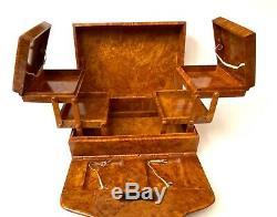 Antique Russian Imperial Faberge Burl Wood Cigarette Case