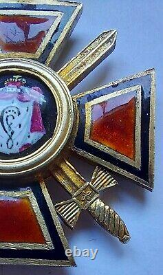 Antique Russian Imperial Order of St Vladimir 3rd class badge