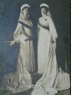 Antique Russian Imperial Photo Postcard Grand Duchess Olga Tatiana Romanov Court