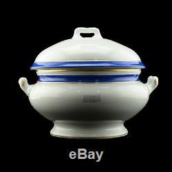 Antique Russian Imperial Porcelain Yacht Tsarevna Soup Tureen 1897 Tsar Nicholas