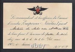 Antique Russian Imperial Regiment Cuirassiers Invitation Tsar Nicholas Romanov