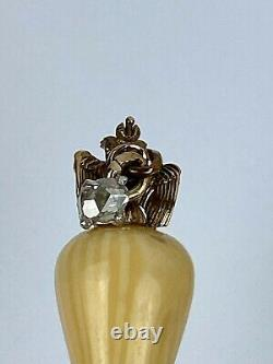 Antique Stick Pin Brooch Imperial Russian Faberge KF/ 56 14k Gold Diamond